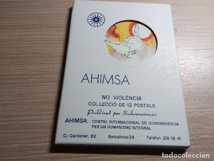 AHIMSA. COLECCIÓN DE 12 POSTALES DE ARTISTAS DIFERENTES. (Postales - Postales Temáticas - Dibujos originales y Grabados)