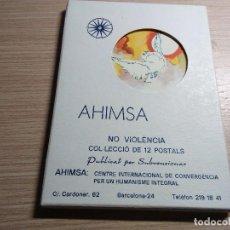 Postales: AHIMSA. COLECCIÓN DE 12 POSTALES DE ARTISTAS DIFERENTES.. Lote 116864803