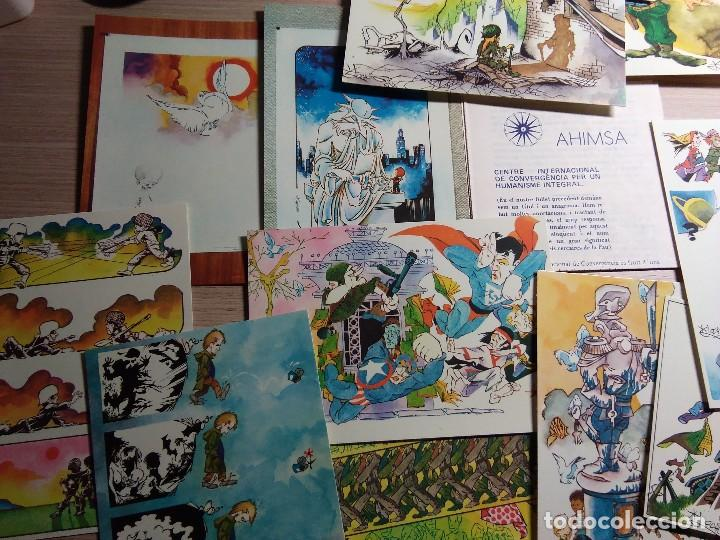 Postales: AHIMSA. COLECCIÓN DE 12 POSTALES DE ARTISTAS DIFERENTES. - Foto 2 - 116864803