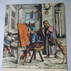Postales: POSTAL DIBUJOS DE PINTORES SEVILLANO MONTAJE SOBRE GRABADO HANS BURGKMAIR.SEVILLA 1983. Lote 117706294