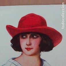 Postales: POSTAL ILUSTRADORES M. ALBERT TEMA SOMBREROS DE MUJER Nº 1267 EDI VICTORIA BARCELONA PERFECTO ESTADO. Lote 118772535