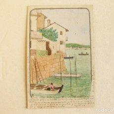 Postales: POSTAL CON UN DIBUJO DE 1904 - BARCELONA - CATALUÑA - LA GARRIGA - FIRMADA CA. Lote 120171811