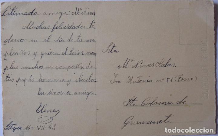 Postales: P-8204. POSTAL ILUSTRADA DE FELICITACIÓN. AÑO 1948. CIRCULADA. - Foto 2 - 122491159