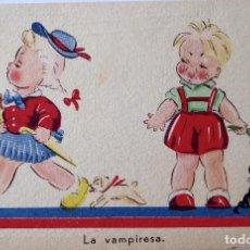 Postales: P-8205. LA VAMPIRESA. POSTAL ILUSTRADA J. B. AÑO 1944. CIRCULADA.. Lote 122491239