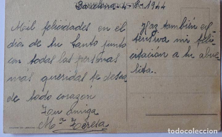 Postales: P-8205. LA VAMPIRESA. POSTAL ILUSTRADA J. B. AÑO 1944. CIRCULADA. - Foto 2 - 122491239