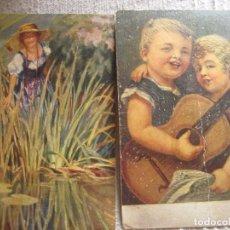 Postales: ANTIGUAS POSTALES PINTADAS A MANO ( OLEO)OLGEMALDE. Lote 123217227