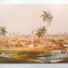Postales: TARJETA POSTAL DE CUBA. INGENIO AZUCARERO. GRABADO SIGLOXIX. Lote 124209791