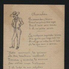 Postales: POSTÁL ILUSTRADA A MANO.CIRCULADA EN 1903.. Lote 124547035