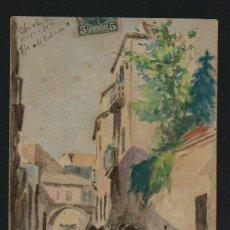 Postales: POSTÁL ILUSTRADA A MANO.FIRMADA. E.MONILLOS.CÁDIZ 1902.CIRCULADA.. Lote 124548419