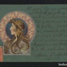 Postales: POSTÁL ILUSTRADA MODERNISTA.CIRCULADA EN 1903.. Lote 124553699