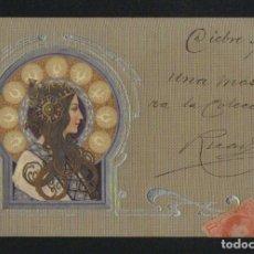 Postales: POSTÁL ILUSTRADA MODERNISTA.EDIT.MANES.BERLIN.CIRCULADA EN 1902.. Lote 124553895
