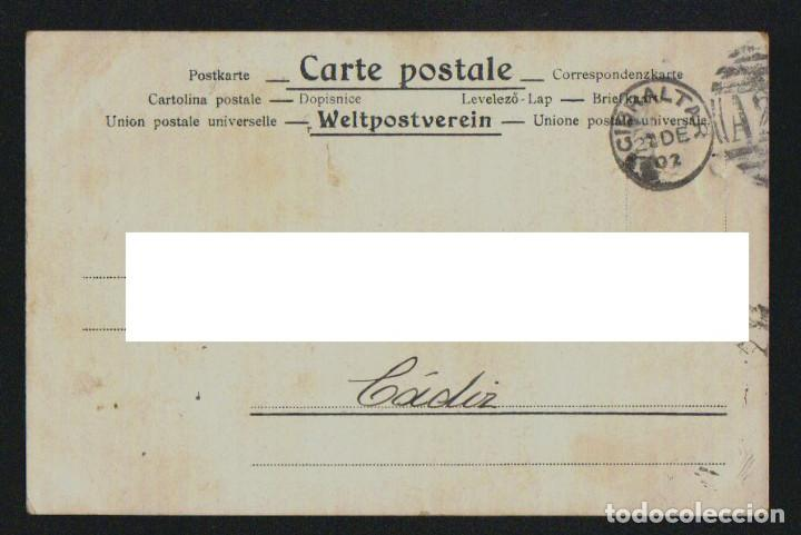 Postales: Payasos.Circo.Postál ilustrada por Roick.Circulada desde Gibraltar en 1902. - Foto 2 - 124554779