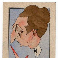"""Postales: CARICATURA ORIGINAL REALIZADA POR EL ACTOR LUIS BELLIDO """" BELLI """". JUAN CARCELLÉ. Lote 125378479"""