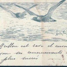 Postales: POSTAL DIBUJO SERIGRAFIA GAVIOTAS - COLLECTION LA FAMILLE PARIS - MB - ASTON NOURY. Lote 125707571