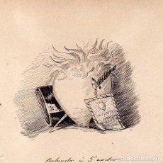 Postales: DIBUJO ORIGINAL A TINTA - DEL LIBRO DE LUIS COLOMA UN MILALGRO. FINAL CAPITULO IV. Lote 128162375