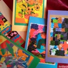 Postales: **LOTE DE POSTALES, --EL ARTE A TRAVÉS DE LOS OJOS DE LOS NIÑOS -- AMERICAN SCHOOL OF VALENCIA**. Lote 130800980