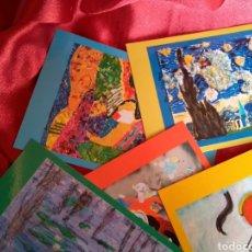 Postales: **LOTE DE POSTALES, -- EL ARTE A TRAVÉS DE LOS OJOS DE LOS NIÑOS --AMERICAN SCHOOL OF VALENCIA**. Lote 130801204