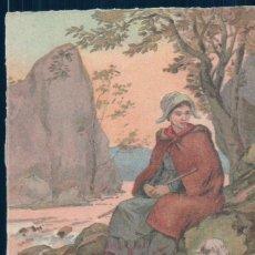 Postales: POSTAL DIBUJO FIRMADA BERRI - PASTORA . Lote 131619498