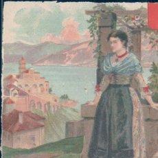 Postales: POSTAL DIBUJO FIRMADA CESSIN - MUJER PAISAJE. Lote 131619666