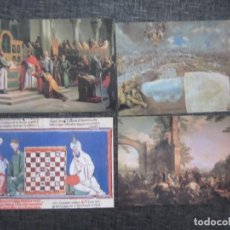 Postales: 23 LAMINAS DE BIBLIOTECA DE ALBUNES HISTORIA DE ESPAÑA NUEVAS (JUEGO 4 COMPLETO. Lote 133407022