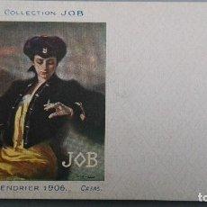 Postales: POSTAL CIGARRILLOS JOB ILUSTRADOR CASAS CALENDRIER 1906 MUJER FUMANDO PERFECTA CONSERVAC SIN DIVIDIR. Lote 134733478