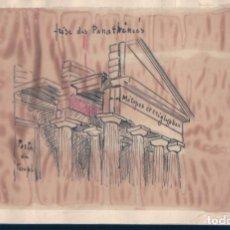 Postales: POSTAL DIBUJO ARQUEOLOGIA - TEMPLO ATENEO - ATENAS. Lote 135083438