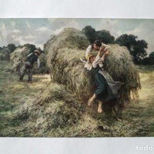 1922 La descente de la charrette de foin