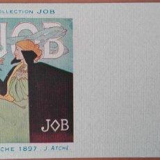 Postales: POSTAL ILUSTRADOR J. ATCHÉ CIGARROS JOB AFFICHE 1897 PERFECTA CONSERVACION REV SIN DIVIDIR. Lote 135293722
