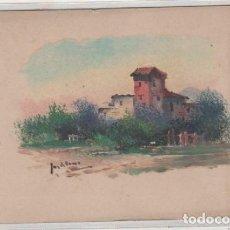 Postales: POSTAL PINTADA, DIBUJO ORIGINAL FIRMADA POR JARDINES. SIN CIRCULAR. . Lote 135757794