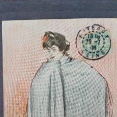 Postales: POSTAL ILUSTRADORES ILUSTRADOR CASAS MUJER CON MANTILLA ED THOMAS BARCELONA CIRCUL 1906 PERFECTA CON. Lote 136586702