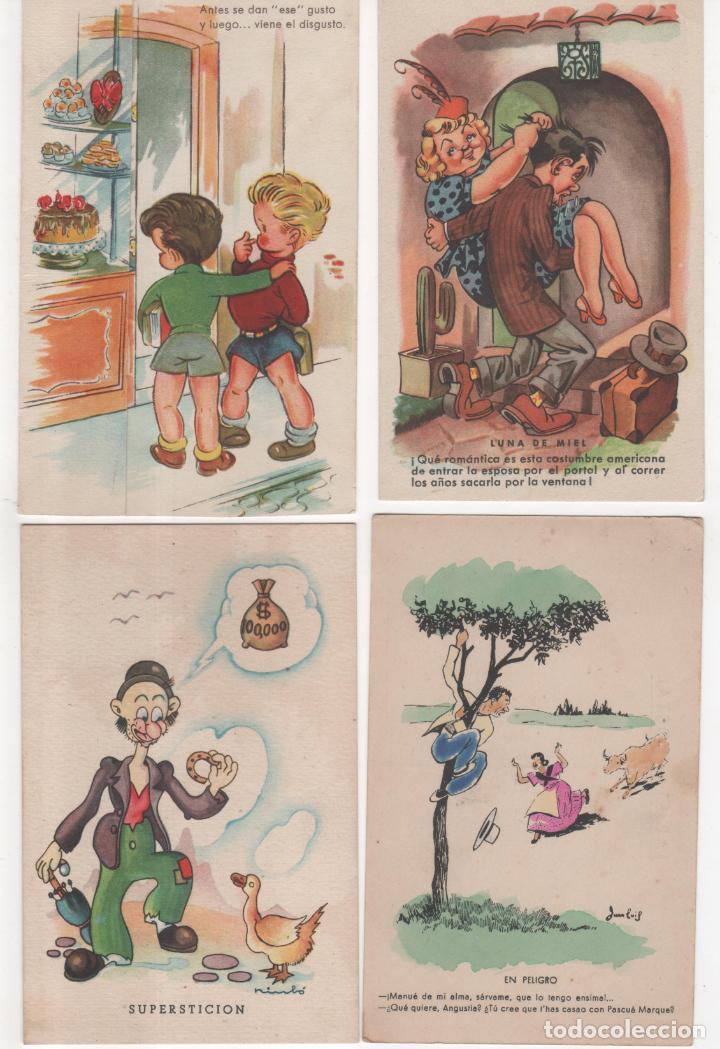 Lote De 10 Postales Con Dibujos Con Buen Sentid Kaufen Alte