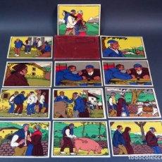 Postales: 12 POSTALES LITOGRAFÍAS CABANAS OTEIZA LABORDE Y LABAYEN TOLOSA ASUNTOS EUSKAROS SIN CIRCULAR. Lote 137509026