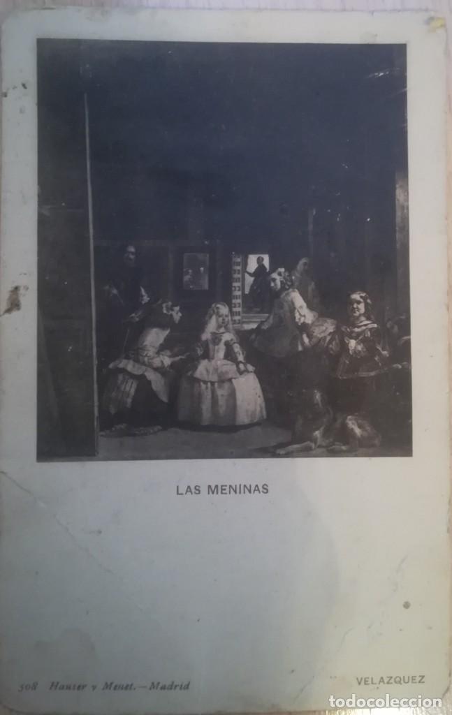 ANTIGUA POSTAL LAS MENINAS (VELAZQUEZ), DE HAUSER Y MENET - MADRID (Postales - Postales Temáticas - Dibujos originales y Grabados)