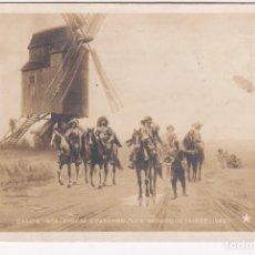 Postales: CARTA POSTAL (LOS MOSQUETEROS 1626)CON FECHA DE 14-7-1908 BARCELONA(IMPORTANTE VISITAR REVERSO). EBC. Lote 140633042