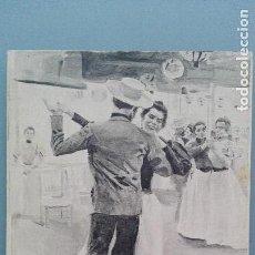 Postales: POSTAL SERIE BLANCO Y NEGRO Nº 565 EL AGARRAO MADRID BAILE ED HAUSER Y MENET PERFECTA CONSERVAC. Lote 141878626
