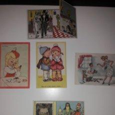 Postales: 5 TARJETAS POSTALES MUY ORIGINALES Y ANTIGUAS AÑOS 40-50.. Lote 142058208