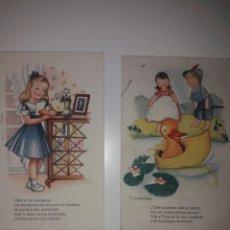 Postales: DOS POSTALES MUY ORIGINALES Y ANTIGUAS.AÑIS 50.. Lote 142058352