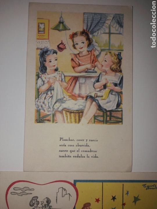 Postales: 4 Tarjetas postales Fenix años 50. - Foto 2 - 142058561