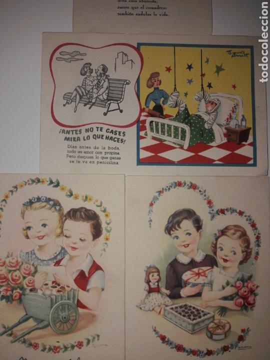 Postales: 4 Tarjetas postales Fenix años 50. - Foto 3 - 142058561