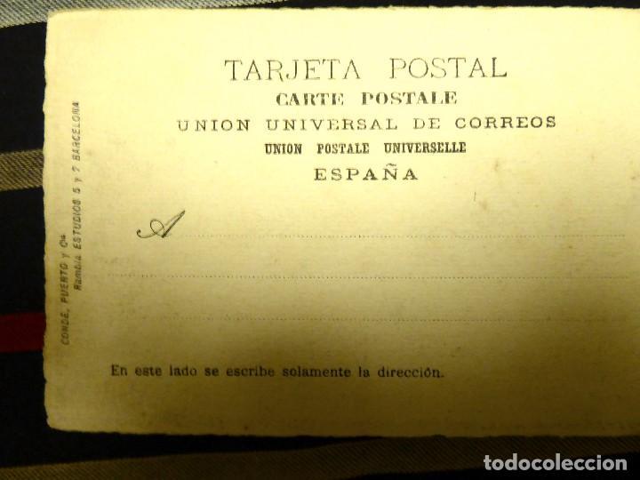 Postales: P-8958. PAISAJE PINTADO A MANO. CARBONCILLO. FIRMADA. .AÑO 1914 - Foto 4 - 144888154