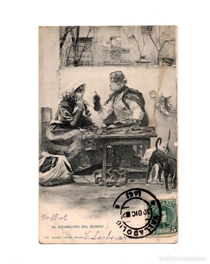 EL CONSEJERO DE BARRIO – BLANCO Y NEGRO REVISTA ILUSTRADA (Postales - Postales Temáticas - Dibujos originales y Grabados)