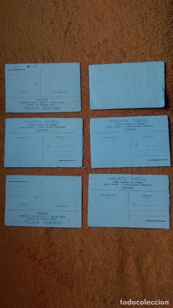 Postales: AB-118.- LOTE DE 5 POSTALES Y 1 DIBUJO ORIGINALES PINTADOS EN ACUARELA , CON Y SIN FIRMA , VER FOTOS - Foto 4 - 149711882