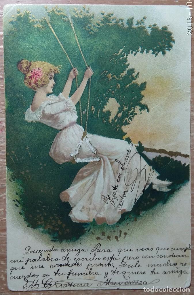 POSTAL DE 1906 (Postales - Postales Temáticas - Dibujos originales y Grabados)