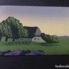 Postales: PAISAJE POSTAL PINTADA A MANO. Lote 154029334