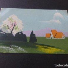 Postales: PAISAJE POSTAL PINTADA A MANO. Lote 154029538