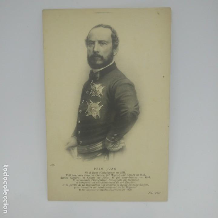Juan Prim y Prats (Reus, 1814-1870), conde de Reus. Postal antigua. 406 - 154133546