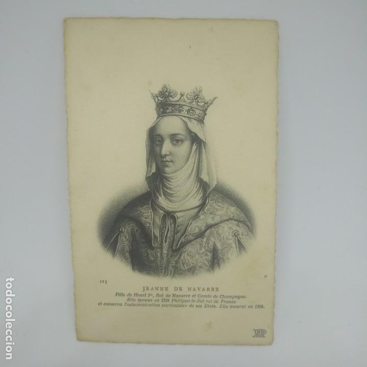 Postales: Jeanne de Navarre. Postal antigua. 113 - Foto 2 - 154134374