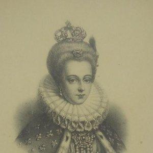 Louise de Lorraine. Postal antigua. 18