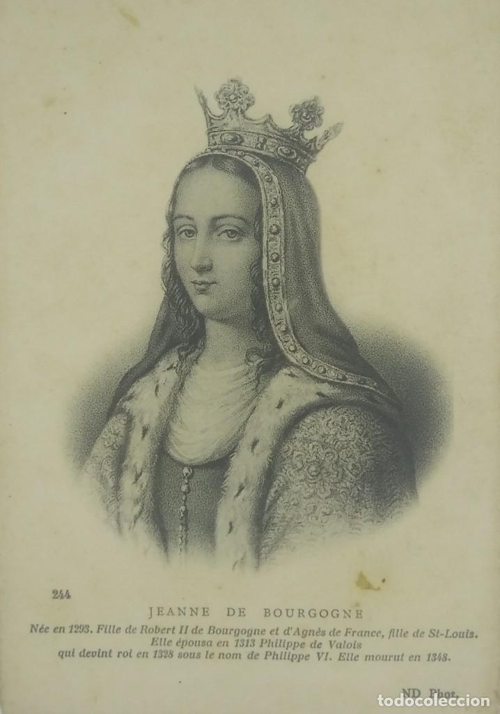 JEANNE DE BOURGOGNE (V. 1293-1349) POSTAL ANTIGUA. PRECIOSA IMPRESIÓN. 244 (Postales - Postales Temáticas - Dibujos originales y Grabados)