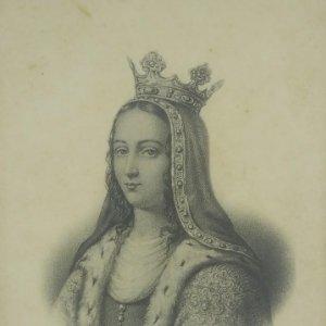 Jeanne de Bourgogne (v. 1293-1349) Postal antigua. Preciosa impresión. 244